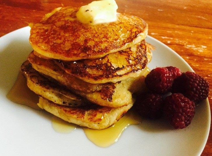 amerikanska pannkakor utan ägg och mjölk