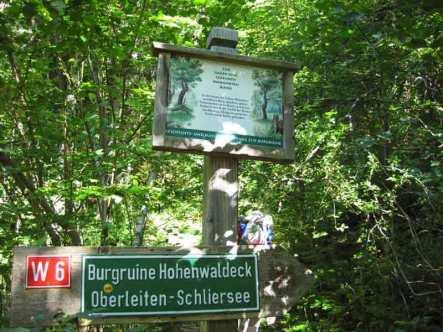 Wegweiser Hohenwaldeck