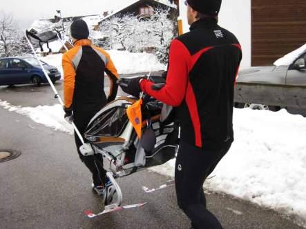 Chariot auf Ski