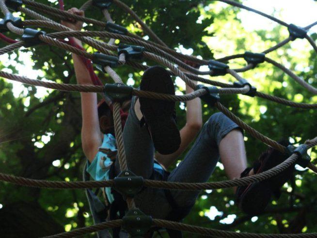 Abenteuer im Klettergarten