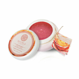 Litchi & Rose Salt Scrub | Matsimela Home Spa 4