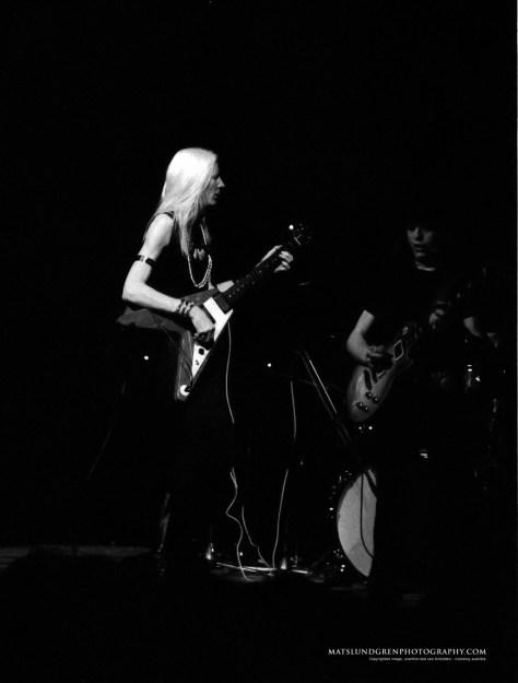Johnny Winter med Rick Derringer, Konserthuset 1970, foto/Mats Lundgren