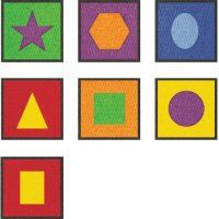 Educational Mats For Kids - Numbers & Geometric Shapes Rugs