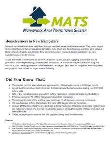 Homelessness Handout