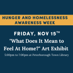 What Does it Mean to Feel At Home? Art Exhibit - Opening Reception