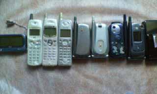 今まで使った 携帯達