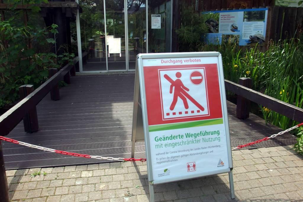 カールスルーエ動植物園、閉鎖の続く屋内施設、2020.05.11. © Matsuda Masahiro