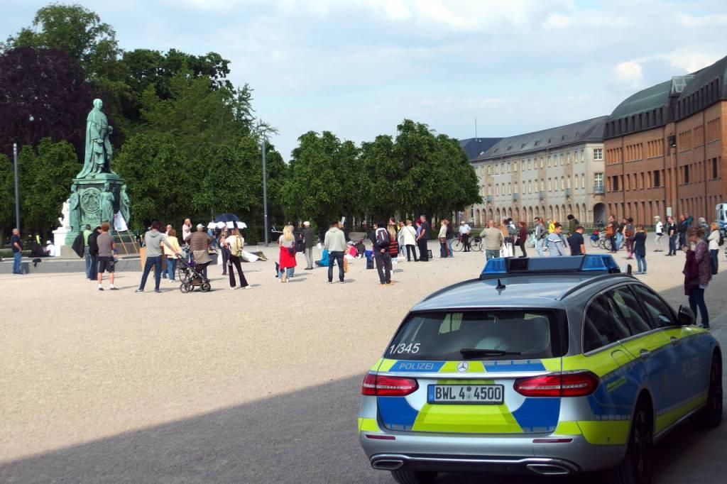 コロナ規制の反対集会、ドイツ・カールスルーエ、2020.05.15. © Matsuda Masahiro