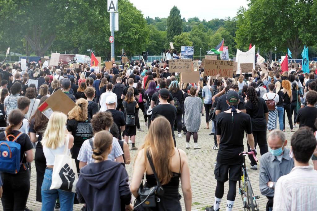 人種差別反対集会、ドイツ・シュトゥットガルト、2020.06.13. © Matsuda Masahiro