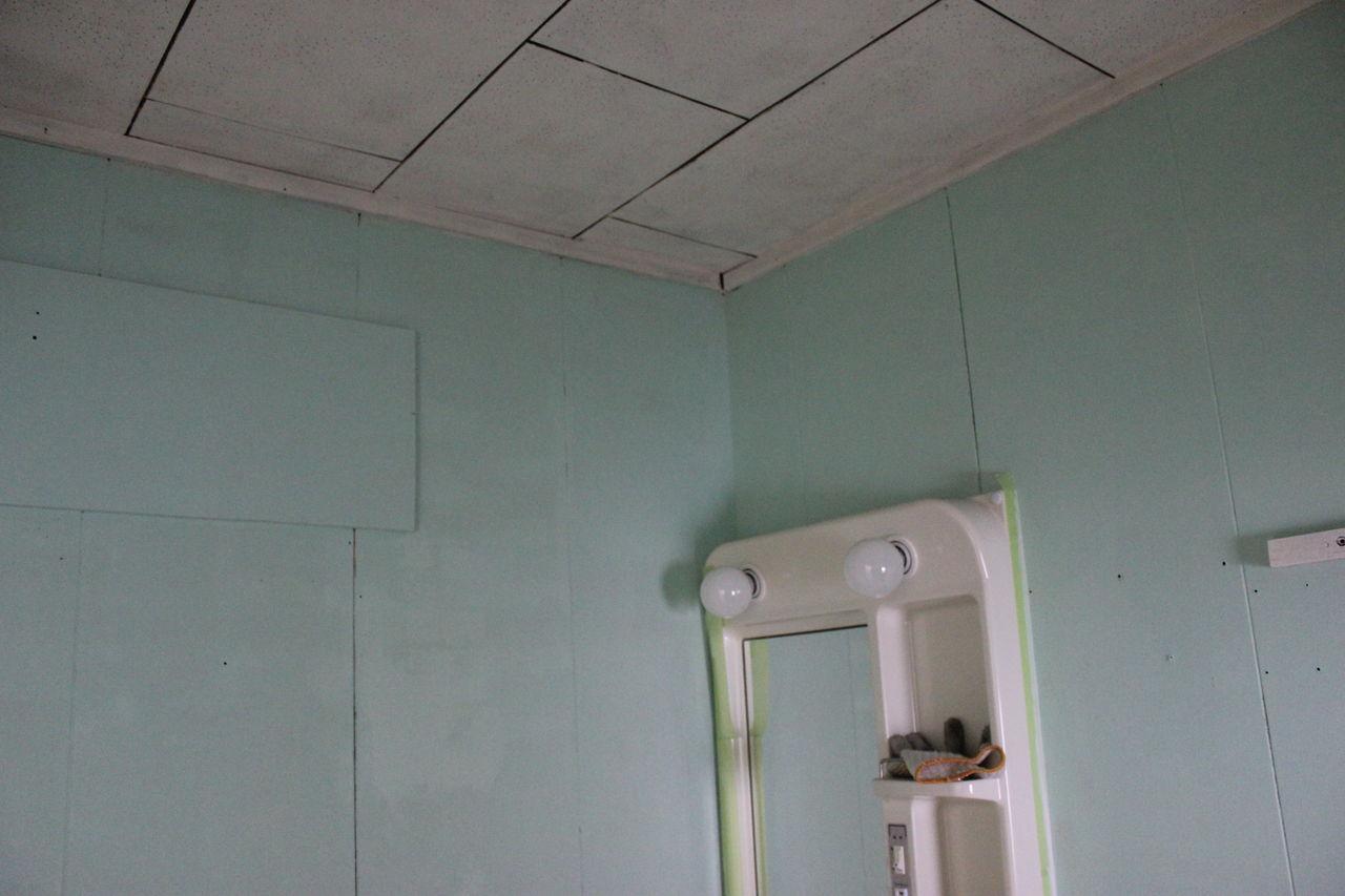 【DIY】洗面所は壁をミントグリーンに♪