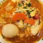 日高屋のトマト酸辣湯麺アップ