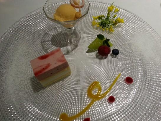 箱根ハイランドホテルのディナーのデザート