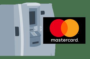 MasterCardマークが付いたATMのイメージ図