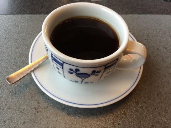 かごの屋のホットコーヒー