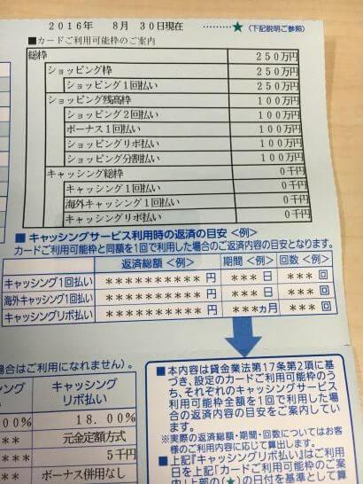 ソラチカカードの利用限度額