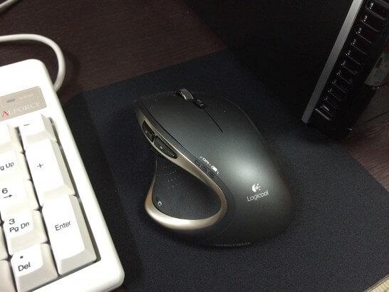 SteelSeries QcK mini マウスパッドの設置状況