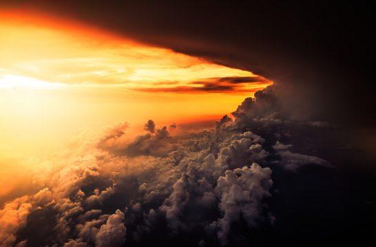 海外リゾートの夕陽