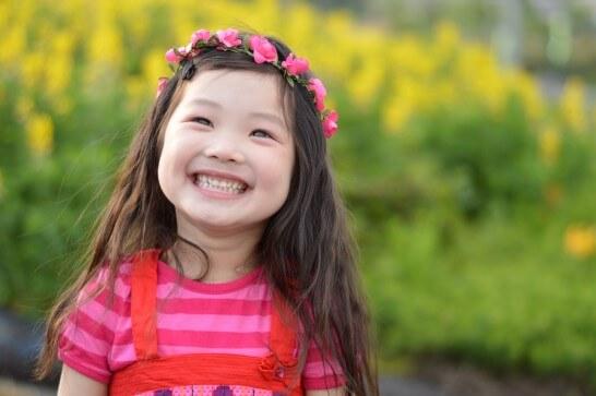 笑顔の女の子