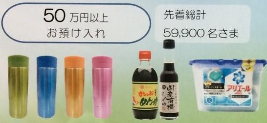 ゆうちょ銀行キャンペーンの30万円以上の景品