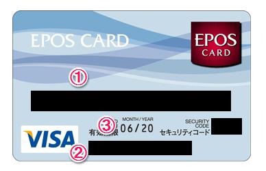 エポスバーチャルカードの券面説明