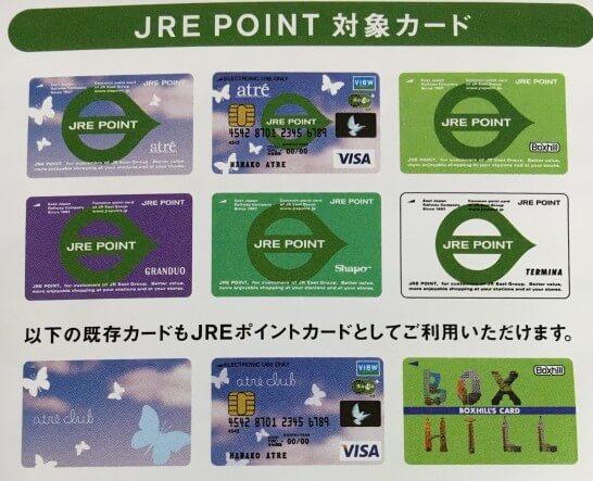 JREポイントカードのデザイン