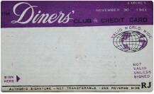 世界初のプラスチック製のダイナースクラブカード