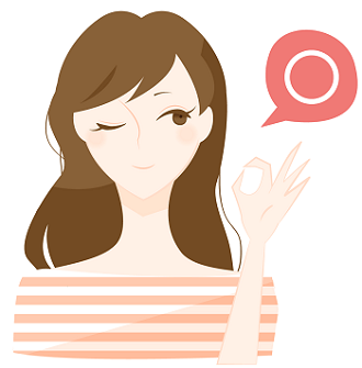 OKポーズを取る女性のイラスト