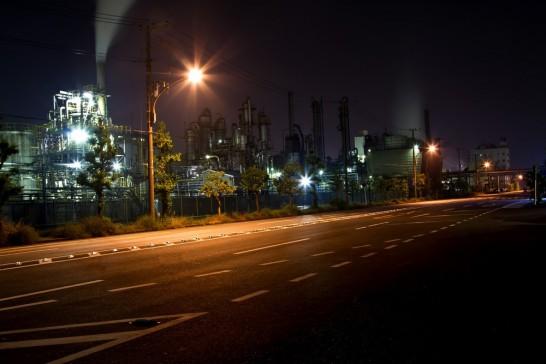 工場の夜景