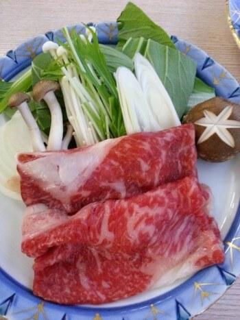 かんぽの宿の夕食の牛肉