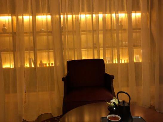 シャングリラホテル東京のスパの待合室