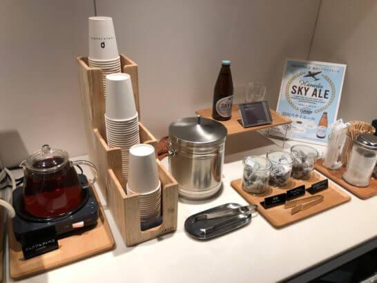 羽田空港 POWER LOUNGE CENTRALのお茶類