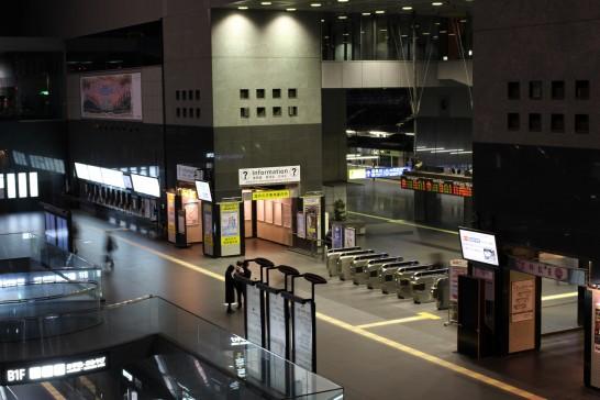 早朝の京都駅