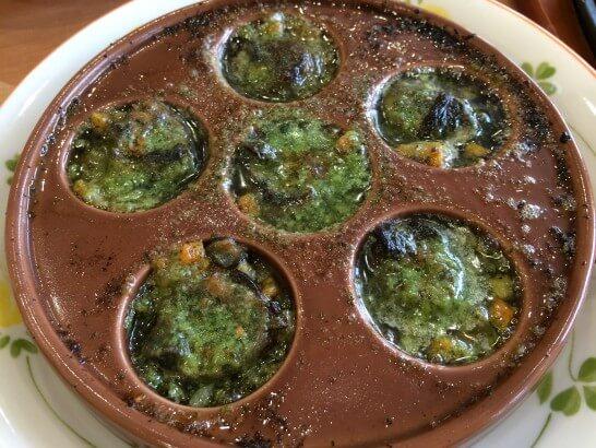 サイゼリヤのエスカルゴのオーブン焼き