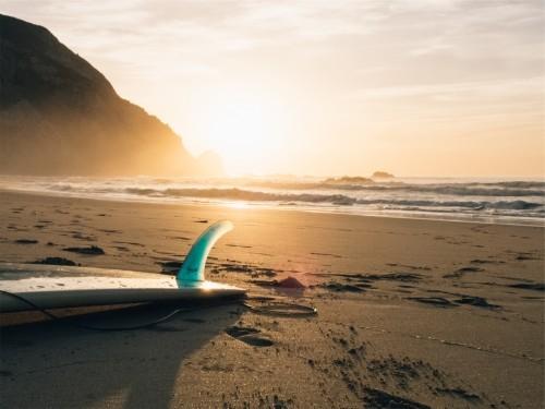 砂浜と日差し