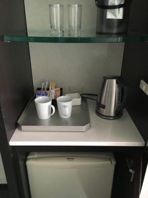 ヒルトン東京ベイの冷蔵庫と飲み物