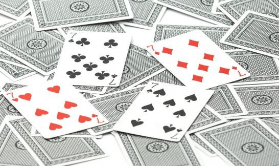 トランプの7の柄カード