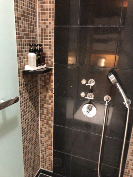 コンラッド東京 水月スパ&フィットネスのシャワールーム
