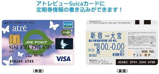 アトレビューSuicaカードの定期券機能