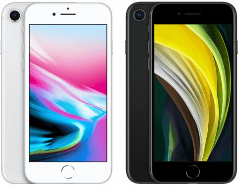 iPhone 8とiPhone SE(第2世代)