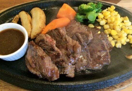 三越のレストランで食べたステーキ