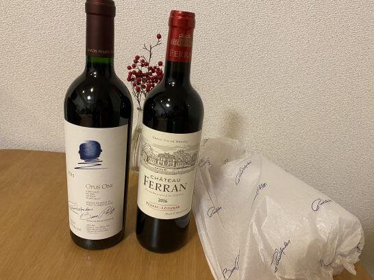イオン de ワインにて購入したオーパス・ワン等