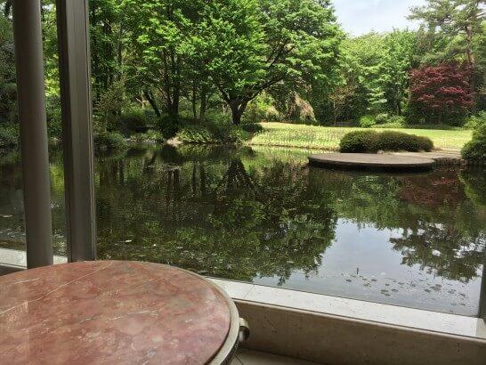 フォレスト・イン昭和館のロビーの窓