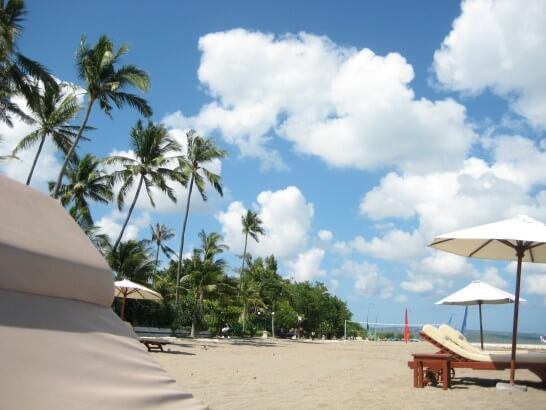 バリ島のビーチ