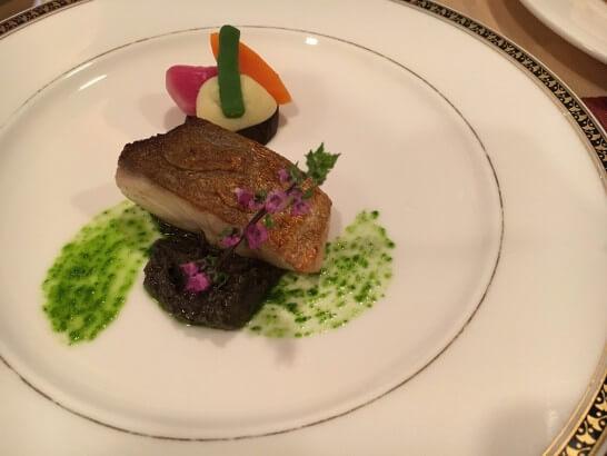 レストランフォンタナの魚料理