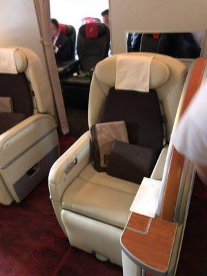JALファーストクラス767の2-1-2シート