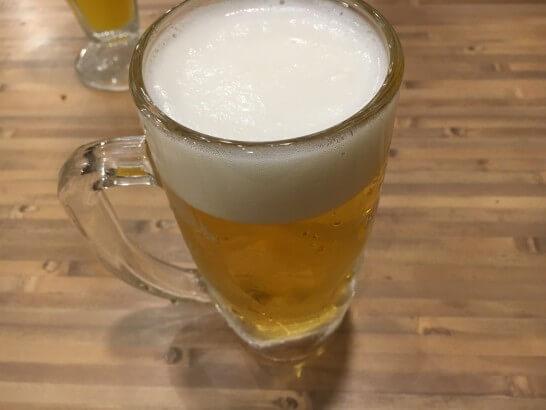 磯丸水産のビール