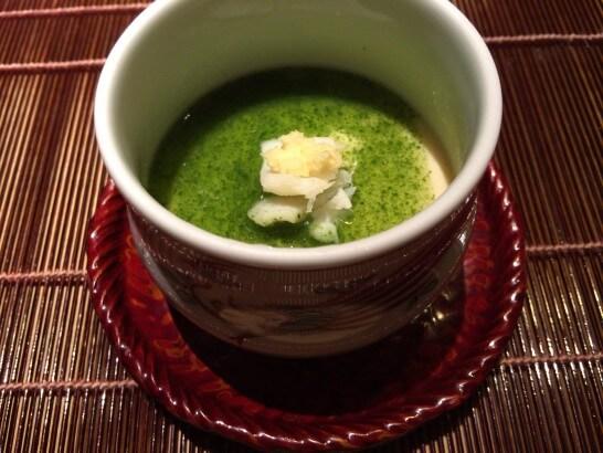 界伊東の夕食の茶碗蒸し