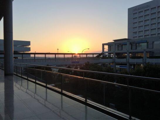 関西国際空港の夕日