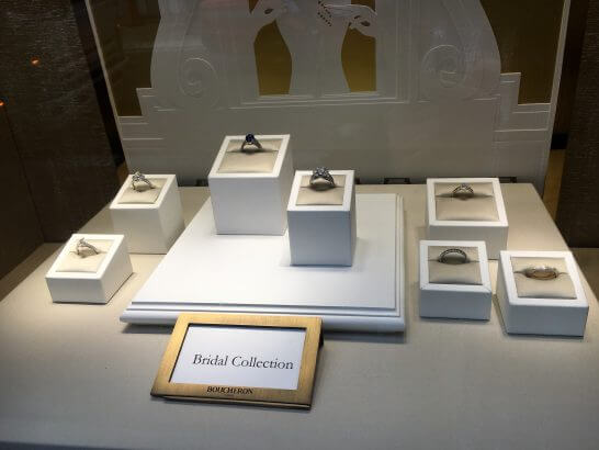 ブシュロン銀座のブライダル・コレクション