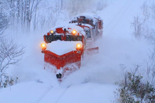 JR北海道の宗谷本線ラッセル